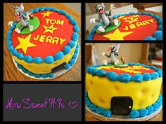 Tom & Jerry Birthday Cake by How Sweet It Is NY.