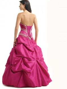 (FITS0255207)2012 Style Ball Gown Strapless Embroidery  Sleeveless Floor-length Taffeta  Prom Dresses / Evening Dresses