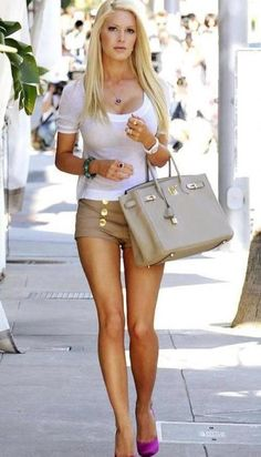 for inspiration-- I like the white and khaki together. I have a skirt that would be a good substitute for the shorts.