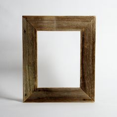 Reclaimed Wood Frame - Small Size - Custom - Made to Order - Rustic Frame. $29.00, via Etsy.
