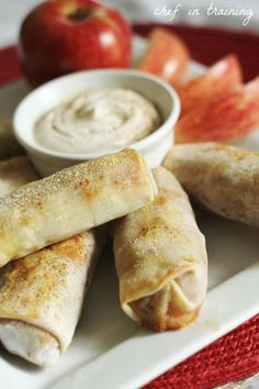 Apple pie egg rolls. Mmmm...