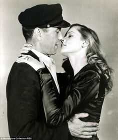 Look of love: She made an unforgettable screen debut opposite Bogart in 1944 in To Have An...