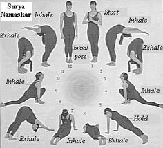 Surya Namaskar (Sun Salutation): These yoga poses de-stress, remove toxins and are a great relaxation exercise. Expect to see skin glowing results if practiced regularly! Yoga Sequences, Yoga Poses, Videos Yoga, Relaxation Exercises, Body Stretches, Yoga Exercises, Sup Yoga, Yoga Meditation, Asana