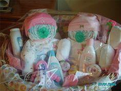 diaper baby in basket