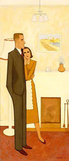 John BRACK   The New House (1953)