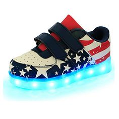 cc67f972026c2   29.99  Boys  Shoes Leather Spring Comfort   Novelty   Light Up Shoes  Sneakers Magic Tape   LED for Blue