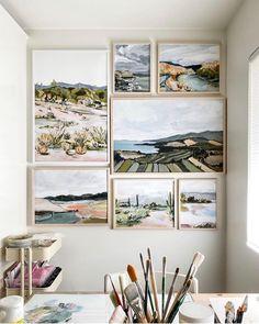 Landscape Art, Landscape Paintings, Painting Inspiration, Art Inspo, Guache, Art Drawings, Drawing Faces, Contour Drawings, Home Art