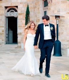 Lauren Conrad Wedding Photos - William Tell's traditional boutonniere fits perfectly with his traditional tuxedo and bow tie!