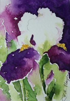 Watercolor Paintings by RoseAnn Hayes: Iris