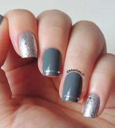 In my locket - Ciaté Locket - Kiko 326 - striping tape - glitter - nails - nailart