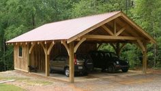 Plans of Woodworking Diy Projects - 20 Stylish DIY Carport Plans That Will Protect Your Car from the Elements Get A Lifetime Of Project Ideas & Inspiration! Carport Sheds, Carport Garage, Pergola Carport, Barns Sheds, Pole Barns, Pergola Kits, Pergola Ideas, Diy Pergola, Garage Exterior