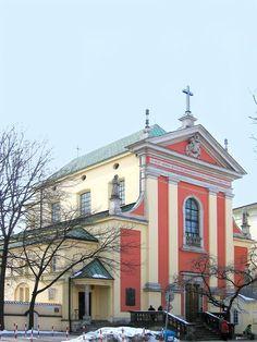 Kapuzinerkirche Warschau mit Grab oder Gedenkstein von Maria Anna Franziska Kolowrath-Krakowski, Gräfin Brühl