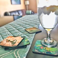 Rob Kaz Art - Drink Coasters (set of 6), featuring 6 different paintings from artist Rob Kaz with Beau the frog, Honu the sea turtle, Busy the bee, Red the ladybug and more Friends Along The Way -  $29.00 -  http://www.RobKazArt.com