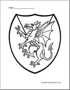 Free Knights Castles Kings Queens and Dragon coloring pages