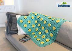 Receita - Manta de quadradinhos com flores - EuroRoma