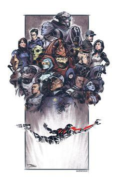 "Mass Effect,фэндомы,ME art,Shepard,James Vega,Jacob Taylor,Samara,Legion,Kasimi Goto,Grunt,Mordin,EDI,Wrex,Thane,Ashley,Kaidan,Liara,Garrus,Tali,Jack,Miranda Lawson,Jeff ""Joker"" Moreau,Anderson"