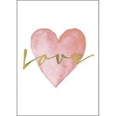 Metallschild - Love