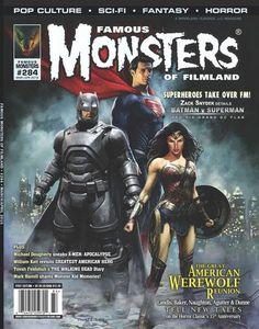 Como Superman E Seus Co Stars Em Batman Vs A Origem Da Justia Mulhermaravilha Na Capa Revista Famous Monsters Of Filmland