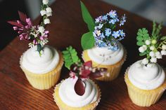 Fresh Flower Cupcake Topper