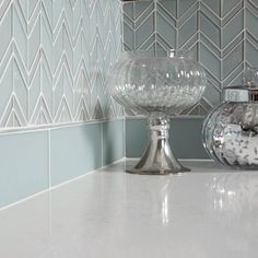 Image result for chevron clear glass backsplash