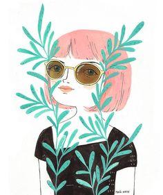 """2,250 Me gusta, 28 comentarios - María Hesse (@mariahesse) en Instagram: """"He vuelto de mi viaje a Japón obsesionada con el país. Normal que la siguiente ilustración sea un…"""""""