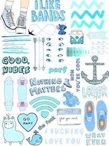 Risultato immagine per collage photo blu  tumblr