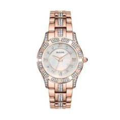 Bulova Watch - Women's Rose Gold-Tone Stainless Steel - 98L197