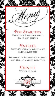 Wedding stationery for Sharron