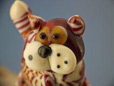 Hunter lampwork tabby cat bead sra by DeniseAnnette on Etsy, $16.00