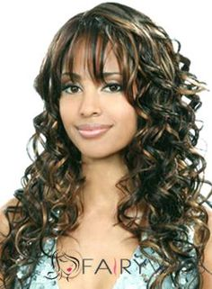 Online Wigs Long Wavy Sepia Side Bang African American Wigs for Women 20 Inch Best Human Hair Wigs, Cheap Human Hair Wigs, Real Hair Wigs, Curly Wigs, Natural Hair Tips, Natural Hair Growth, Natural Hair Styles, Weave Hairstyles, Cool Hairstyles