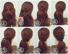 Easy Bun Hairstyles, Everyday Hairstyles, Wedding Hairstyles, New Hair, Your Hair, Japanese Hairstyle, Fries, How To Make Hair, Hair Videos