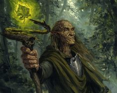 Old Man Of The Forest - Magic, Old, Woods, Wizard, Staff