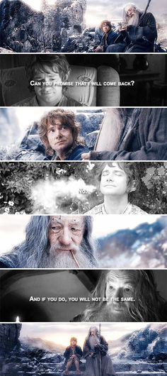 You are not the same hobbit that left on an adventure #thehobbit