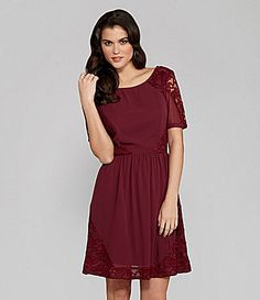 Gianni Bini Mia Georgette and Lace Dress #Dillards