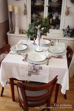 Étkezőszékek átkárpitozása házilag - PURE DESIGN Table Settings, Shabby, Pure Products, Design, Place Settings, Tablescapes