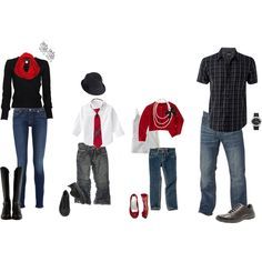 Mix blacks with red and white for a classic and modern feel; cute family outfits for pic Christmas Pictures Outfits, Xmas Photos, Family Christmas Pictures, Holiday Pictures, Holiday Outfits, Family Pictures, Christmas Pics, Birth Pictures, Xmas Pics