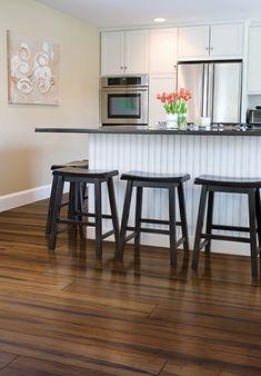 Rustic Carbonised Strand Woven Bamboo Flooring 135mm Uniclic® BONA Coating  Www.bambooflooringcompany.com
