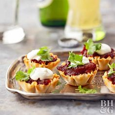 BBQ Phyllo Bites from the Better Homes and Gardens Must-Have Recipes App Best Appetizer Recipes, Appetizers For Party, Snack Recipes, Cooking Recipes, Snacks, Savoury Recipes, Bbq Pork, Pulled Pork, Barbecue