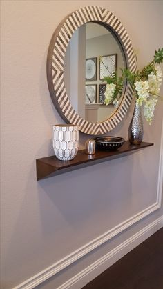 Elegant Hall Mirrors with Shelves