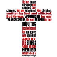 healed  Isaiah 53:4 & 5