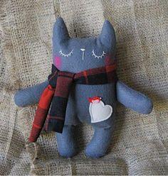 Kitty with scarf by Kitty Krafts