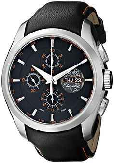 Tissot Men's T0356141605101 Valijoux Chronograph Watch Ti... Amazing Watches, Beautiful Watches, Cool Watches, Stylish Watches, Luxury Watches, Military Tactical Watches, Diesel Watches For Men, Breitling Watches, Watch Brands