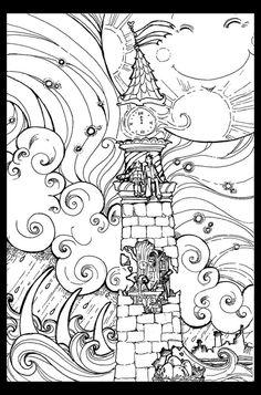 Lighthouse- uncolored by alizarin.deviantart.com on @deviantART