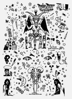 Vrouwen - T Shirt - Tank Top - Marilyn Manson - The Spooky Kids - 90 's - muziek - Goth - Band - Flyer kunst - Neon - afbeelding Arte Marilyn Manson, Marilyn Manson Tattoo, Tattoo Dotwork, Goth Tattoo, Tattoo Flash Sheet, Tattoo Flash Art, Time Tattoos, Body Art Tattoos, Arabic Tattoos