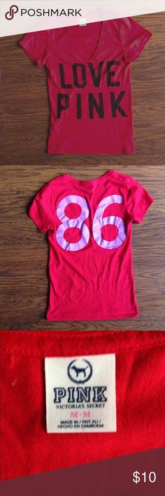 Victoria's Secret PINK Tee Like new, worn only a couple times. PINK Victoria's Secret Tops Tees - Short Sleeve