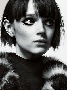 Christian MacDonald shoots Doug, Maja Salamon & Dani Witt for Vogue UK October 2014. Make-up by Lou Teasdale