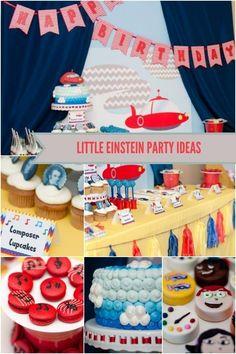 Little Einstein boy's birthday party www.spaceshipsandlaserbeams.com