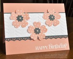 SU Pansy Punch Boho Blossoms Punch Finishing Touches Edgelits Vine Street Embossing Folder