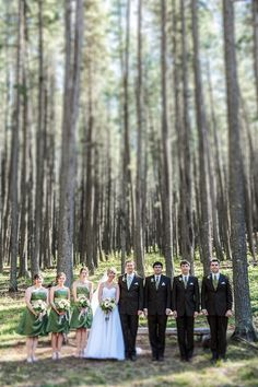Gorgeous lodgepole pines are the perfect backdrop for this green inspired wedding. #CypressHills #Weddings