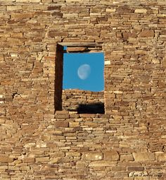 Windowed moon - Chaco Canyon, New Mexico...